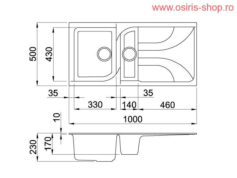 chiuveta bucatarie ego 475. Black Bedroom Furniture Sets. Home Design Ideas
